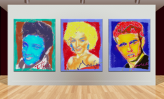 Andy Warhol style Elvis Marilyn James Dean