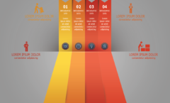 infographic perspective colors