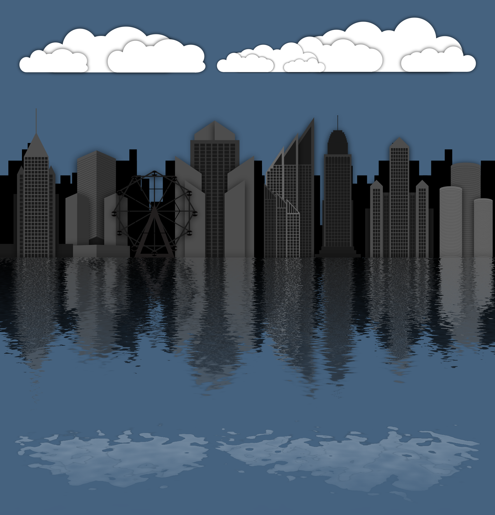 illustrator skyline