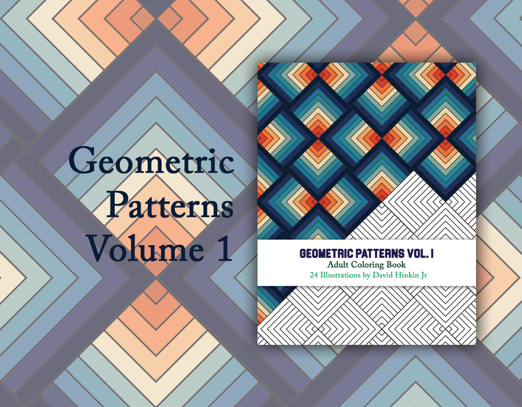 Coloring Book Geometric Patterns Vol 1