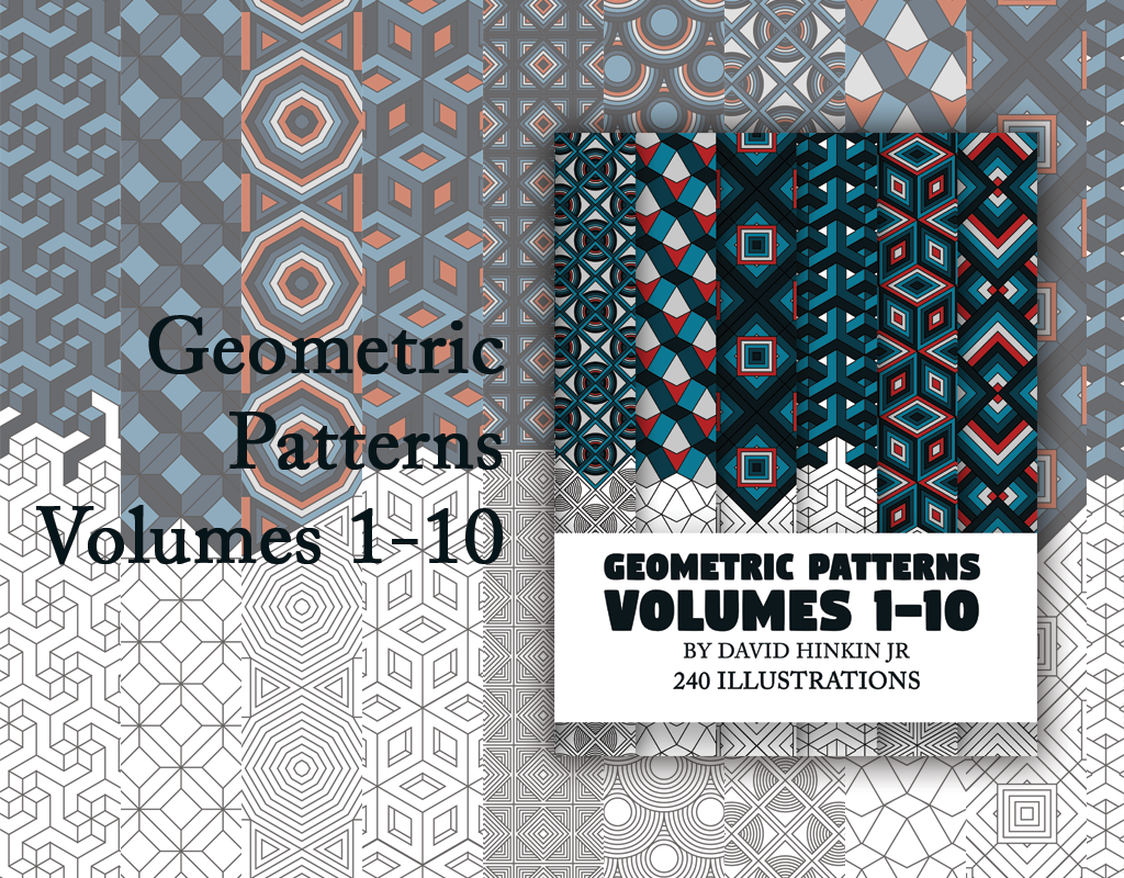 geometric patterns volumes 1-10