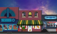 record store fruit store skate shop dhinkin.com
