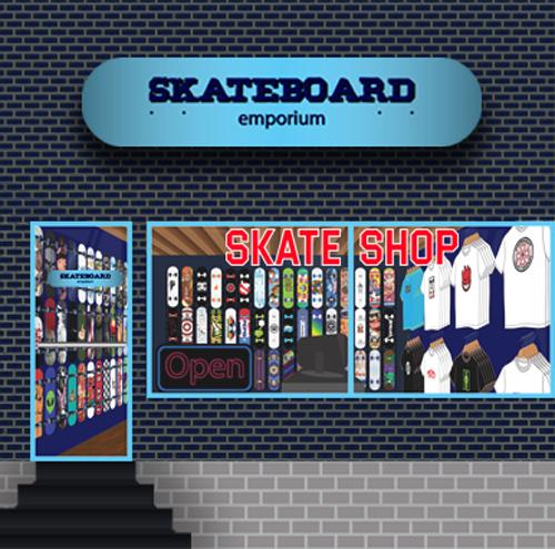 skate shop storefront dhinkin.com